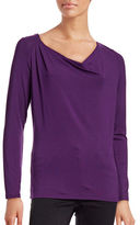 Lord & Taylor Iconic Fit Cowl Neck Top