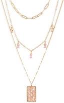 Panacea Triple Layer Chain Pendant Necklace