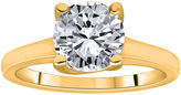 JCPenney MODERN BRIDE 1 CT. Round Certified Diamond Solitaire 14K Yellow Gold Ring