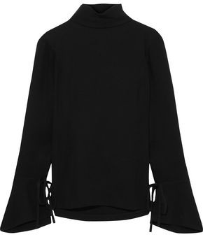 Carolina Herrera Open-back Bow-detailed Silk Blouse