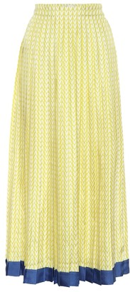 Valentino Exclusive to Mytheresa Printed silk-twill midi skirt