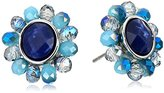 "lonna & lilly Blue Horizons"" Drusy Button Multi-Earrings"