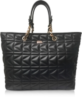 Karl Lagerfeld K/Kuilted Black Leather Tote Bag