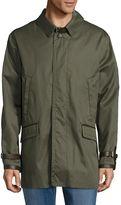 Brioni Men's Leather Trimmed Cotton-Silk Jacket