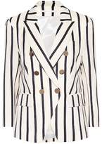 Veronica Beard Empire striped dickey blazer