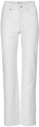Marine Serre Exclusive to Mytheresa Embossed leather straight pants