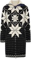 Sacai Fair Isle intarsia wool-blend sweater dress