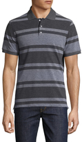 Isaia Cotton Striped Polo Shirt