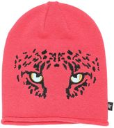 Molo Leopard Embroidered Cotton Beanie Hat