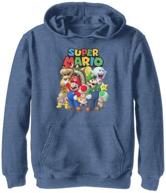 Nintendo Unbranded Boys 8-20 Super Mario Classic Group Shot Hoodie