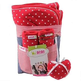Minene Pushchair Liner and Strap Set (Red Stars)