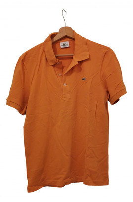 Lacoste Orange Cotton Polo shirts