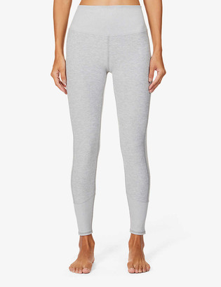 Alo Yoga 7/8 Alosoft Lounge high-rise woven leggings