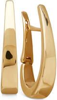 Macy's Polished Gradual Oval Hoop Earrings in Italian 14k Gold