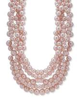 Anne Klein 8-14MM Imitation Pearl and Crystal Collar Necklace