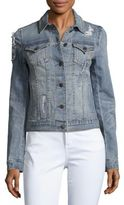 Miss Me Vintage Distressed Denim Jacket