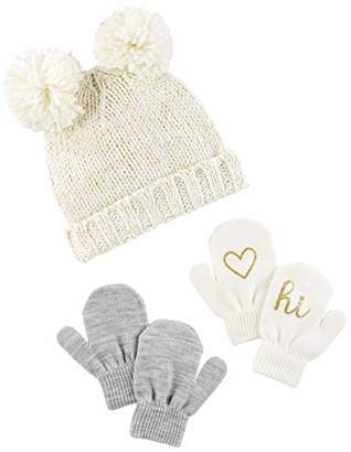 Carter's Simple Joys by Baby Girls' Toddler Hat and Mitten Set