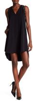 Rachel Roy Studded A-Line Mini Hi-Lo Dress