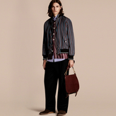 Burberry Stripe Print Technical Bomber Jacket