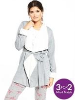 Very Short Collar Wrap Robe
