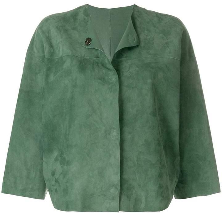 Yves Salomon reversible collarless jacket