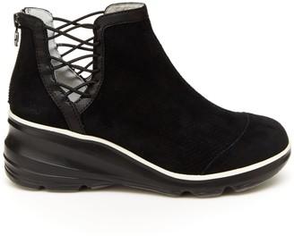 Jambu Back Zip Suede Boots - Naomi Boot
