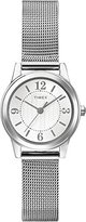 Timex Women's Quartz Watch with Silver Dial Analogue Display and Silver Stainless Steel Bracelet T2P457