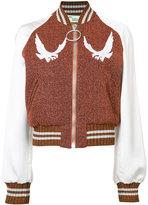 Off-White lurex souvenir jacket - women - Polyester/Viscose/Polyamide/Spandex/Elastane - S