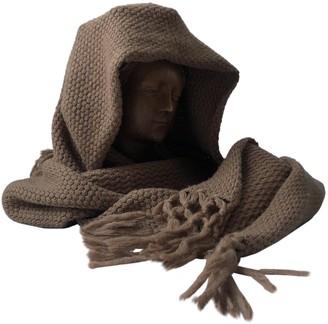 Veronique Branquinho Camel Wool Scarves