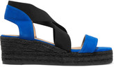 Castaner Bernard velvet and grosgrain sandals