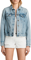 AllSaints Hay Denim Jacket, Mid Indigo Blue