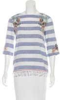 Suno Embroidered Woven Top