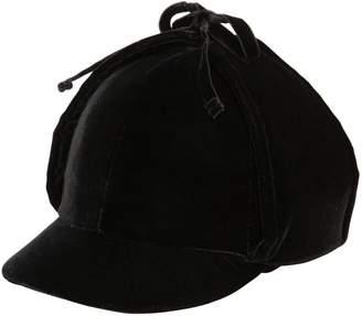 Miu Miu Cotton Velvet Hat W/ Ear Flaps