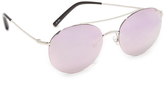 Matthew Williamson Round Aviator Mirrored Sunglasses