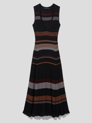 Proenza Schouler Sleeveless Viscose Zigzag Knit Midi Dress