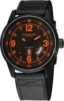 Stuhrling Original Men's 129B2.335557 Tuskegee Skymaster Automatic Black/Oran...