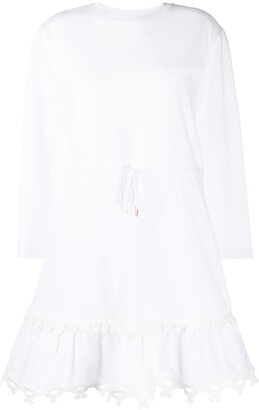 See by Chloe Embroidered Shift Mini Dress