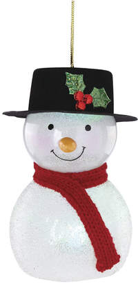 Lenox Wonderball Lit Snowman With Top Hat Ornament