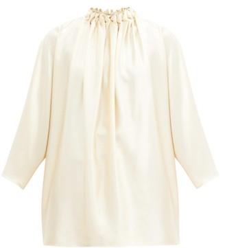 Roksanda Ava Braided High-neck Silk-crepe Blouse - Ivory