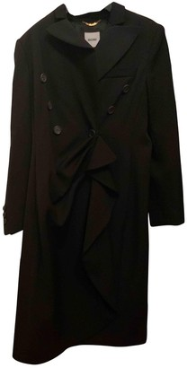 Moschino Black Cotton Coat for Women