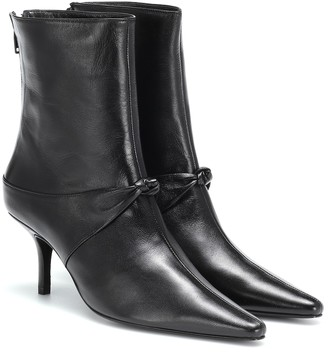 Dorateymur Groupie Knot leather ankle boots