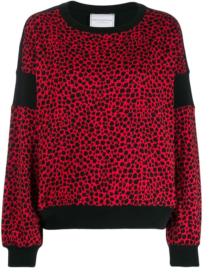 Philosophy di Lorenzo Serafini leopard print sweater