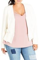 City Chic Plus Size Women's Side Buckle Crop Jacket