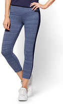 New York & Co. Crop Yoga Legging - Blue Space Dye