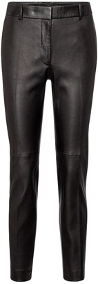 Joseph Coleman mid-rise leather pants