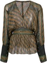 Anna Sui ribbed waist blouse