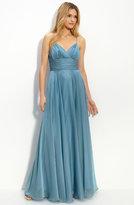 Empire Waist Chiffon Gown