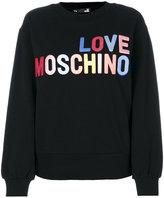 Love Moschino logo print sweatshirt - women - Cotton/Spandex/Elastane - 38
