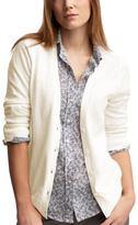 Cropped-sleeve cardigan