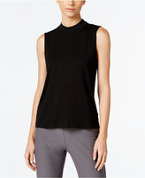 Eileen Fisher Lightweight Jersey Mock-Neck Shell